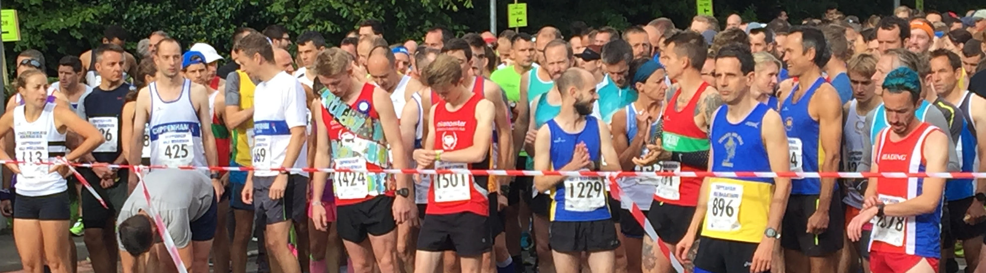 Runners at the start line of Chippenham marathon