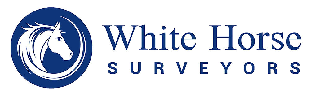 White Horse Surveyors logo with a white horse in a blue circle