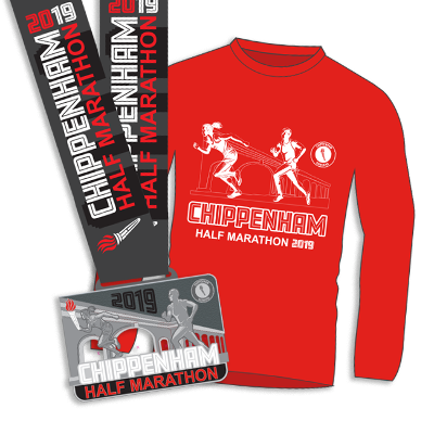 Chippenham Half Marathon t-shirt and medal